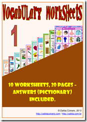 VOCABULARY WORKSHEETS 1 CAPA